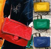 Wholesale over shoulder bag nylon online - 2019 Design Suede Genuine Leather XL Flap Bag Women s Travel Large Shopping Bag Chain Around Shoulder Flap Bag Crossbody Bags Red Colors