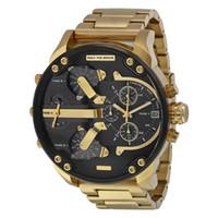 mira bandas grandes al por mayor-Relojes deportivos para hombre Reloj con pantalla grande DZ 55 mm Marca Top Reloj de lujo Reloj de cuarzo Banda de acero 7333 Relojes de moda para hombres 7315
