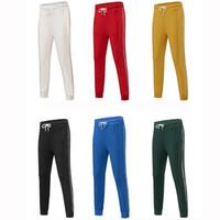 pantalones casuales para mujer al por mayor-Diseñador Hombres Mujeres Casual Deportes Pantalones largos Marca de otoño Hombres Pantalones deportivos Pantalones de mujer 6 Color Tamaño disponible S - 4XL