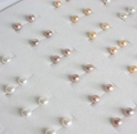 Wholesale Natural Freshwater Pearl Stud Earrings