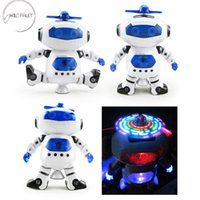 Wholesale interesting toys for kids resale online - fast ship Interesting Baby Toys Cute Electric Music Light Dancing Robot Smart Toys Space Walking Toys For Children Kids Music Light Kid s