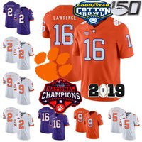 Wholesale ross men for sale - Group buy NCAA Clemson Tigers Football Trevor Lawrence Jersey Travis Etienne Jr Sammy Watkins Bryant Higgins Ross Champions TH CFB Stitched