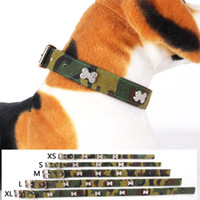 Wholesale dog bone collar for sale - Group buy Pet Collar Rhinestone Bone Dog Collar Canvas Material Woods Camouflage Strap Necklace Small Medium Dogaccessories Pet Supplies