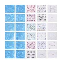 tırnak baskı etiket toptan satış-30 adet Kar Tanesi Baskı Nail Sticker Noel Lehçe Manikür Nail Art Dekor