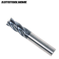 Wholesale flute carbide end cutter resale online - Machine Tools Accessories Milling Cutter PC Flute mm Tungsten Milling Cutter End Mill Bits Straight Carbide Tips for Stainless