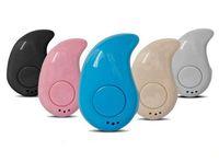 ingrosso piccoli auricolari-Auricolare Bluetooth Mini S530 Auricolari Bluetooth senza fili molto piccola singola vivavoce auricolare senza fili Mini Auricolare per lo sport