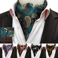 bufandas de boda al por mayor-Hombres Boda Formal Cravat Moda Retro Paisley Estilo Británico Caballero Seda Bufandas Corbatas Traje Bufandas Negocios Corbata