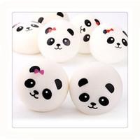 pão de bolo venda por atacado-Novidade Panda Pão Do Bolo Do Bebê Chaveiros Encantos Strap Para Saco De Bolo Squishies Lento Rising Telefone Celular Chaves Do Carro Macio Mole Chaveiros