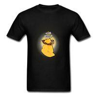los mejores quesos al por mayor-Sweet Cheese Print Hombres camiseta de dibujos animados Divertido manga corta fiesta de cumpleaños camisetas algodón O-cuello Simple Top en descuento