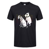 Wholesale cotton dog collars for sale - Group buy Men s Summer T Shirts Short Sleeve Pittbul Tattooing Dalmatian Dog Funny Men s O Collar Short Sleeve Clothing T Shirt