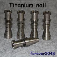 14 mm enail titanyum toptan satış-GR2 Titanyum Tırnak 10mm 14mm 18mm için Ayarlanabilir Kubasız Enails Erkek Kadın Ortak 16mm Enail Bobin Ücretsiz kargo