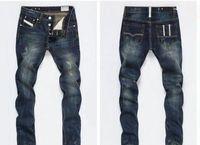 famosos hombres de marca s jeans al por mayor-2020 nuevos estilos de los hombres hott primavera otoño clásico retro David Beckhammen vaqueros alto Quanlity famosa marca de diseño de mezclilla azul jeans rasgados