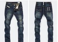 marcas chinese jeans venda por atacado-2020 novos estilos de hott primavera homens outono retro David Beckhammen calça jeans alta Quanlity famosa grife clássico azul denim jeans rasgados