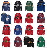 хоккейные толстовки блэкхокс оптовых-Custom НХЛ Хоккейный Толстовка Пуловер Чикаго Блэкхокс Ванкувер Кэнакс Сент-Луис Блюз Тампа Бэй Лайтнинг Нью-Йорк Рейнджерс Бостон Брюинз