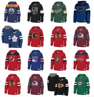 Wholesale Custom NHL Hockey Hoodie Pullover Chicago Blackhawks Vancouver Canucks St Louis Blues Tampa Bay Lightning New York Rangers Boston Bruins
