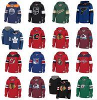 nhl boston toptan satış-Özel NHL Hokeyi Hoodie Kazak Chicago Blackhawks Vancouver Canucks St Louis Blues Tampa Bay Yıldırım New York Rangers Boston Bruins