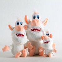 niños juguetes rusos al por mayor-25 cm de dibujos animados rusos TV Booba Buba Peluche Muñeca Peluches pequeño cerdo blanco Peluche niños juguetes