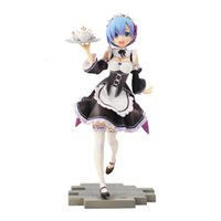Wholesale world figure painting for sale - Group buy 21cm Anime Re Life In a different world from zero Rem Servant Girl Ver Scale Painted Figure PVC Model Collectible Toy Doll T190912