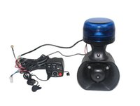 Wholesale 12v police speaker for sale - Group buy Motorcycle police warning equiments W led warning beacon lights sounds W siren alarm speaker switch controller microphone