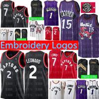 f1f5ad20f New Toronto 2 Kawhi Leonard Raptors 7 Kyle Lowry Jersey Top 15 Vince Carter  1 Tracy McGrady Retro Mesh Basketball Jerseys