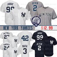 béisbol de los yankees al por mayor-99 Aaron Judge New York Men Yankees Jersey 7 Mickey Mantle 25 Gleyber Torres 42 Mariano Rivera 23 Don Mattingly camisetas de béisbol