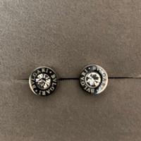 jóias brincos de aço 316l venda por atacado-2019 novo Deluxe 316L titanium aço homens de prata mini rodada diamante brincos para mulheres homens top jóias