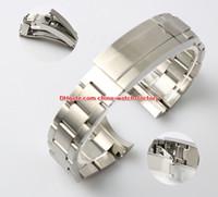 pulsera de hebilla de acero al por mayor-Más vendidos de alta calidad 21 mm Sea-Dweller Bandas de reloj Correa de acero 316L Hebilla Despliegue de seguridad cierre plegable para 116660 Relojes
