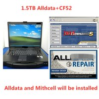 Wholesale alldata repair software installed laptop for sale - Group buy Installed Version Alldata and Mitchell Software all data mitchell on demand in1 hdd tb with computer CF52 laptop