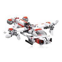 transmisor de helicóptero de control remoto al por mayor-MITU DIY Control de teléfono móvil auto-ensamblado Robot Building Block Toy