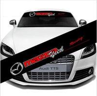 etiqueta da velocidade do pára-brisa venda por atacado-Auto Car Frente Voltar Brisa Emblema Adesivo Decalque Para Mazda Racing