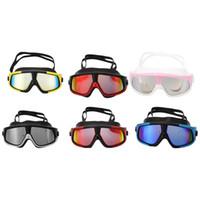 очки для плавательных очков оптовых-Swim gGoggles Waterproof Swimming Goggles Suit HD Anti-Fog 100% UV Adjustable Prescription Glasses Waterproof Diving Glasses