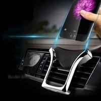 u klammern großhandel-U-Typ Schwerkraft Auto GPS Ständer Telefonhalter Automatische tragende Induktion Navigationshalterung Air Vent Mount Autohalterung