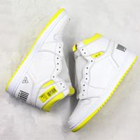 ingrosso primo giallo-Scarpe da pallacanestro di prima classe di volo Codice a barre 1s giallo limone 2019 Nuova sneaker da allenamento per uomo