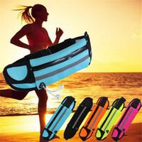 koşu için telefon çantaları toptan satış-Açık Cep Telefonu Su Geçirmez Spor Koşucu Bel Bum Çanta Koşu Koşu Kemer Kılıfı Zip Fanny Paketi Spor Paketleri DHL Ücretsiz