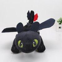 ejderha gece öfke peluş toptan satış-25-60 cm Anime Ejderhanı Peluş Oyuncaklar Dişsiz Peluş Gece Fury Peluş Dolması Hayvan Doll Oyuncak Noel Çocuklar Hediye