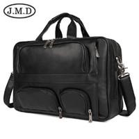 Wholesale laptop bags for sale - Group buy J M D Genuine Vintage Leather Men s Briefcase Laptop Bag Big Size Hand Business Bag Coffee