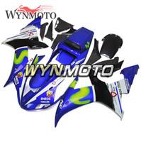 ingrosso parti di carenatura del motociclo di yamaha-Kit carene parti moto per Yamaha YZF1000 R1 2002 2003 Telaio corpo bici completo R1 02 03 Carene moto aftermarket ABS blu