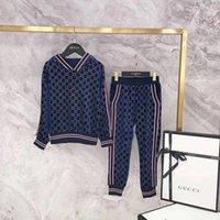 kazak ikiz seti toptan satış-İki Adet Kıyafetleri 2019 Çocuk Çocuk Hareket Lüks Tasarımcı Takım Elbise Erkek Kız Kazak Twinset çocuk Konfeksiyon çocuk Giyim Seti Erkek joyf