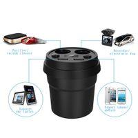 Wholesale 12 volt socket adapter resale online - DC Dual USB Car Charger Cup Automobiles Charging Adaptor Way Cigarette Lighter Splitter Socket Plug Power Adapter DC V
