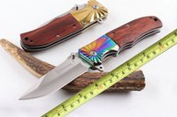 Wholesale browning quick opening knives for sale - Browning FA32 Tactical Folding Pocket Knife Assisted Quick Open CR15MOV Blade Wood Handle Camping Survival Hiking Fishing Knives P55Q F