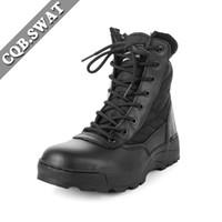 botas occidentales de calidad al por mayor-CQB.SWAT Army Boots Tactical para hombre con bota de trabajo Western de alta calidad al aire libre