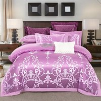 Wholesale jacquard silk bedding set gold resale online - Silk Cotton Jacquard Crown Bedding set Embroidered Quilt Cover Sets Bed Sheet Pillowcases Queen King Size