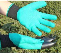 garten krallen großhandel-Garden Genie Handschuhe mit Fingerspitzen 4 Claws Green Dig und Pflanzenschutzhandschuhe Garden Waterproof Digging Gloves c0094