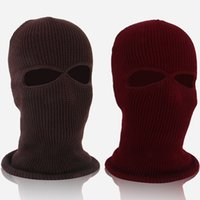 Wholesale mask hats for sale - Outdoor Riding Mask Full Face Winter Keep Warm Hat Male And Female Headgear Fleece Red White wf C1