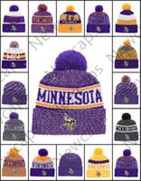 Wholesale viking beanie resale online - Minnesota Sport Winter Hats Vikings Stitched Team Logo Brand Warm Men Women Hot Sale Knitted Caps Cheap Mixed Beanies