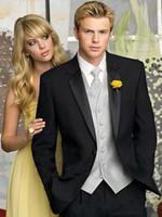 en iyi erkekler resmi takım elbiseleri toptan satış-Yeni Erkek Düğün Takım Elbise İyi Erkek Blazer Slim Fit Damat Smokin Yakışıklı Groomsmen Suit Balo Resmi 3 Parça Ceket Giymek + Pantolon + Yelek 534