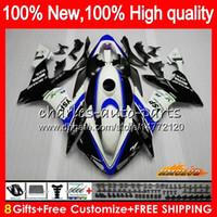 Wholesale yamaha r1 white green resale online - Body For YAMAHA YZF R CC YZF YZFR1 HC YZF1000 CC hot sale blue YZF R1 YZF R1 Fairings kit