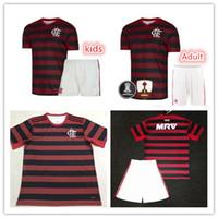 erwachsene tops großhandel-20 20 Flamengo CR Heimtrikot-Trikots GUERRERO DIEGO Kinder-Kit 2019 2020 Flamenco Herren-Fußballtrikots von Top-Thai-Qualität