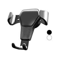 clip d'avertissement iphone achat en gros de-Support de voiture de gravité pour téléphone dans le support de vent de voiture Ventilation Clip Support de support de support de téléphone portable magnétique pour iPhone X 7
