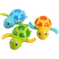 Wholesale turtle bath toys resale online - Single Sale Cute Cartoon Animal Tortoise Classic Baby Water Toy Infant Swim Turtle Wound up Chain Clockwork Kids Beach Bath Toys